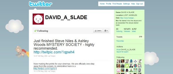 David A Slade Twitted on 05.24