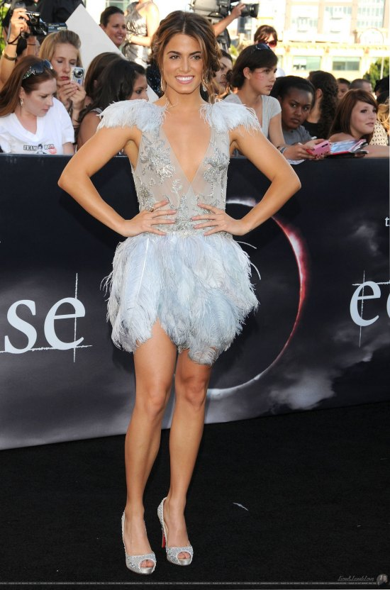 Hey, Nikki Reed, what's with this feathery ice-dancer costume?! You know the only swan in the Twilight Saga is Bella, so we suggest taking this off and finding something a little more couture and a lot less confounding for the red carpet.
