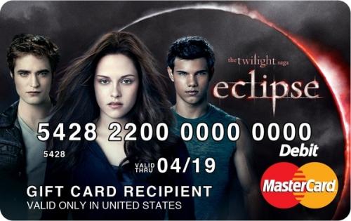 The Twilight Saga: Eclipse MYPLASH Prepaid Card