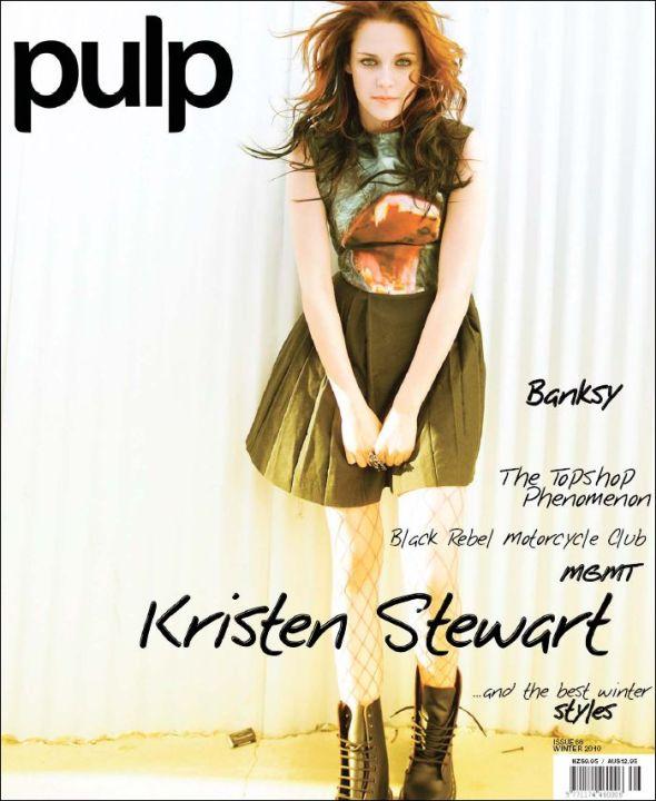 Kristen Stewart on the cover of PULP magazine (Australia)