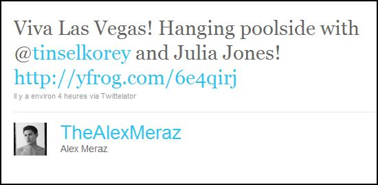 Julia, Alex and Tinsel hanging poolside in Vegas!