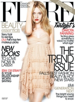 Dakota Fanning covers Flare Magazine's August Cover!