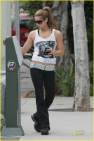 Eclipse movie's Ashley Greene was spotted putting change in a meter before heading to a Hollywood gym in Los Angeles (June 26th)