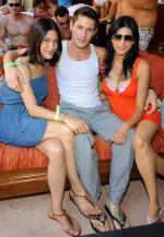 Twilight Wolfpack's Julia Jones, Alex Meraz and Tinsel Korey and hosted at TAO Beach on Friday (Photo credit: Al Powers).
