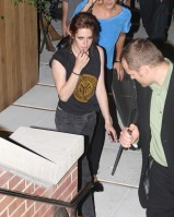 Kristen Stewart heading out of the Eclipse screening in New York