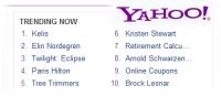 Kristen Stewart & Eclipse → Yahoo TRENDING NOW