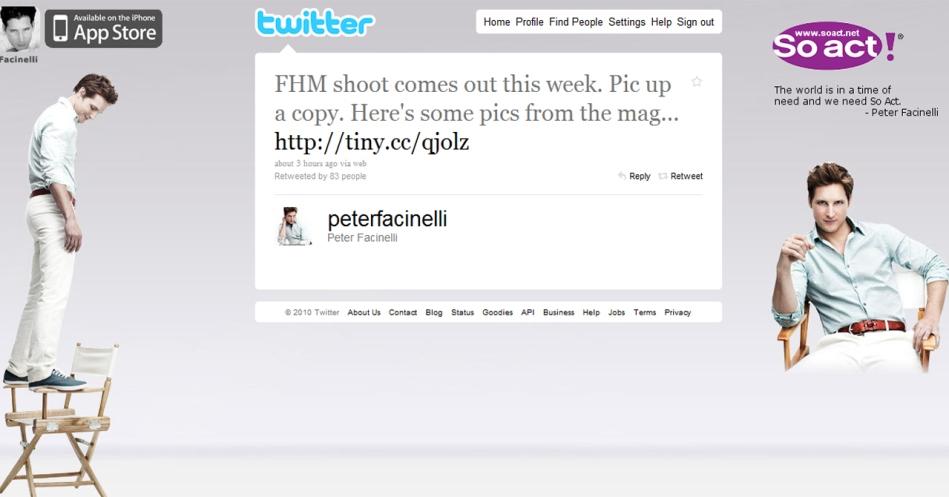 Peter Facinelli Tweets