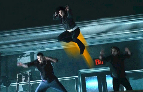 In the movie, vampires make an unnecessary but awesome whooshing sound when they jump around.